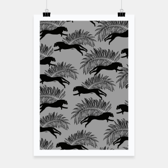 Thumbnail image of Black Panther Palm Glitter Glam #2 #tropical #decor #art Plakat, Live Heroes