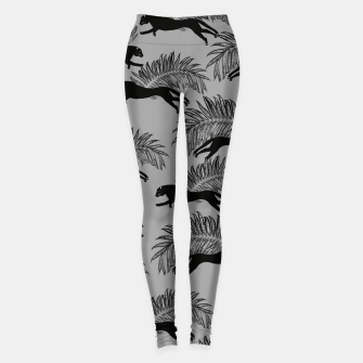 Thumbnail image of Black Panther Palm Glitter Glam #2 #tropical #decor #art Leggings, Live Heroes
