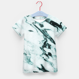 Miniatur Teal Marble Glam #1 #marble #decor #art T-Shirt für kinder, Live Heroes