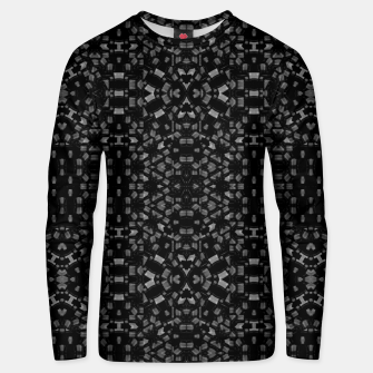 Miniatur Black and White Tech Pattern Unisex sweater, Live Heroes