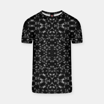 Miniatur Black and White Tech Pattern T-shirt, Live Heroes