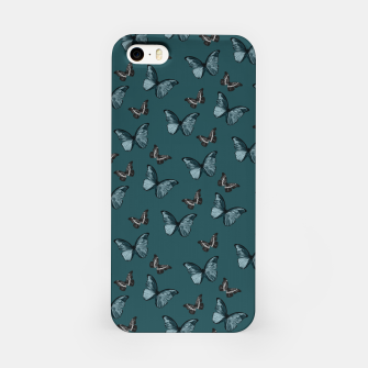 Miniaturka Dark Teal & Black Butterfly Glam #1 #pattern #decor #art  iPhone-Hülle, Live Heroes