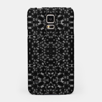 Miniaturka Black and White Tech Pattern Samsung Case, Live Heroes