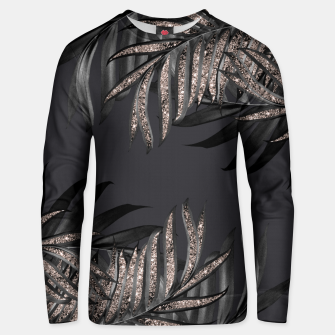 Thumbnail image of Gray Black Palm Leaves with Rose Gold Glitter #6 #tropical #decor #art Unisex sweatshirt, Live Heroes