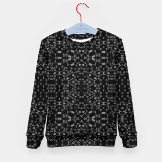 Miniatur Black and White Tech Pattern Kid's sweater, Live Heroes