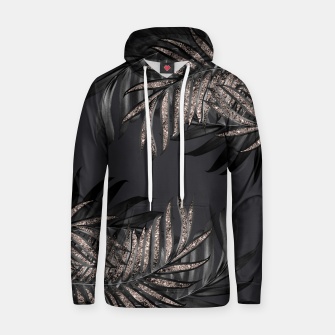 Thumbnail image of Gray Black Palm Leaves with Rose Gold Glitter #6 #tropical #decor #art Kapuzenpullover, Live Heroes