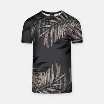 Thumbnail image of Gray Black Palm Leaves with Rose Gold Glitter #6 #tropical #decor #art T-Shirt, Live Heroes