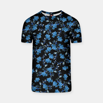 Thumbnail image of Blue Flower Pattern #1 #spring #floral #decor #art T-Shirt, Live Heroes