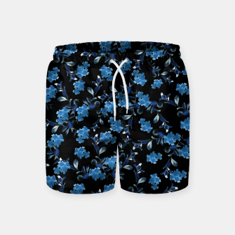 Thumbnail image of Blue Flower Pattern #1 #spring #floral #decor #art Badeshorts, Live Heroes