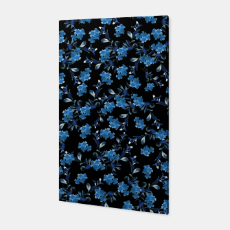 Thumbnail image of Blue Flower Pattern #1 #spring #floral #decor #art Canvas, Live Heroes