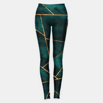 Miniatur Dark Teal Ink Copper Gold Geometric Glam #1 #geo #decor #art  Leggings, Live Heroes