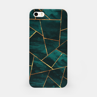 Miniaturka Dark Teal Ink Copper Gold Geometric Glam #1 #geo #decor #art  iPhone-Hülle, Live Heroes