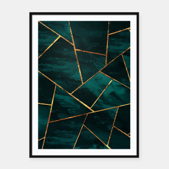 Miniatur Dark Teal Ink Copper Gold Geometric Glam #1 #geo #decor #art  Plakat mit rahmen, Live Heroes