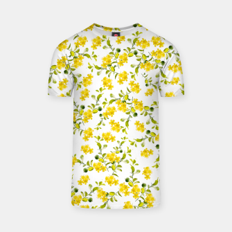 Thumbnail image of Yellow Flower Pattern #1 #spring #floral #decor #art  T-Shirt, Live Heroes