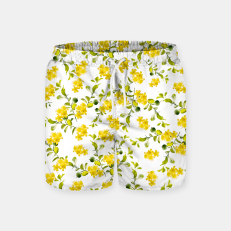 Miniatur Yellow Flower Pattern #1 #spring #floral #decor #art  Badeshorts, Live Heroes