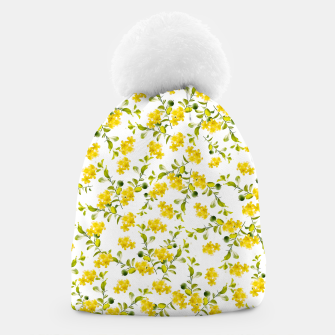 Thumbnail image of Yellow Flower Pattern #1 #spring #floral #decor #art  Mütze, Live Heroes