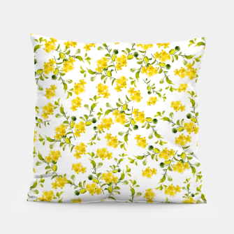 Thumbnail image of Yellow Flower Pattern #1 #spring #floral #decor #art  Kissen, Live Heroes