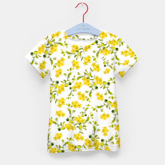 Thumbnail image of Yellow Flower Pattern #1 #spring #floral #decor #art  T-Shirt für kinder, Live Heroes