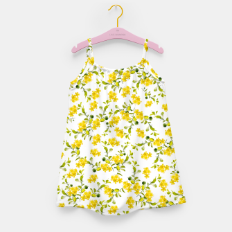 Thumbnail image of Yellow Flower Pattern #1 #spring #floral #decor #art  Mädchenkleid, Live Heroes