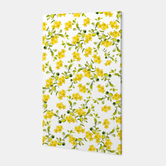 Thumbnail image of Yellow Flower Pattern #1 #spring #floral #decor #art  Canvas, Live Heroes