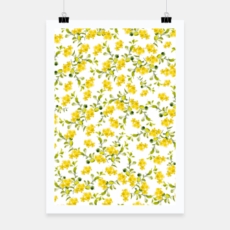 Miniatur Yellow Flower Pattern #1 #spring #floral #decor #art  Plakat, Live Heroes