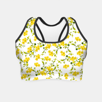Miniatur Yellow Flower Pattern #1 #spring #floral #decor #art  Crop Top, Live Heroes