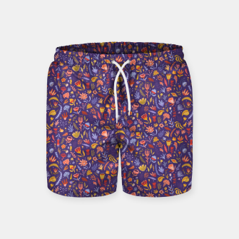 Miniatur Paper Cut Magic Garden at Night Swim Shorts, Live Heroes