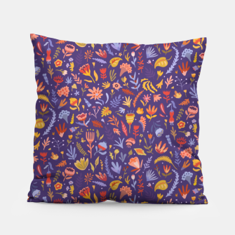 Miniatur Paper Cut Magic Garden at Night Pillow, Live Heroes