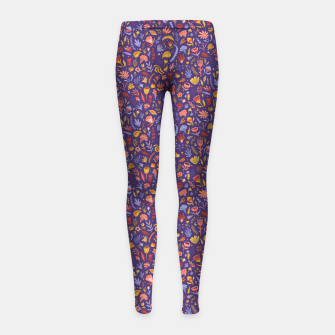 Miniatur Paper Cut Magic Garden at Night Girl's leggings, Live Heroes
