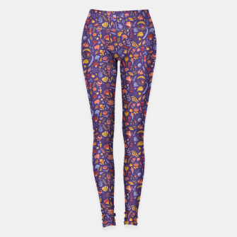 Miniatur Paper Cut Magic Garden at Night Leggings, Live Heroes
