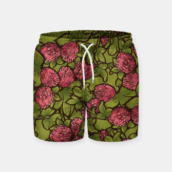 Miniatur Red Clover Swim Shorts, Live Heroes