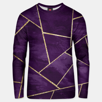 Miniatur Dark Purple Ink Gold Geometric Glam #1 #geo #decor #art Unisex sweatshirt, Live Heroes