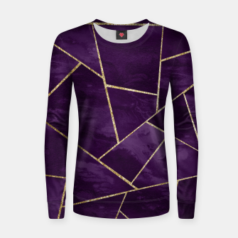 Miniatur Dark Purple Ink Gold Geometric Glam #1 #geo #decor #art Frauen sweatshirt, Live Heroes