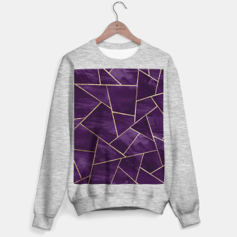 Miniatur Dark Purple Ink Gold Geometric Glam #1 #geo #decor #art Sweatshirt regulär, Live Heroes