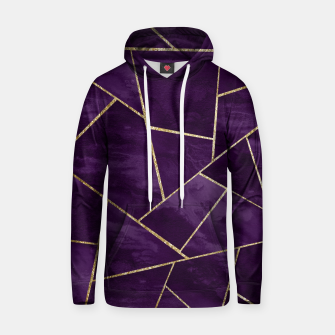 Miniatur Dark Purple Ink Gold Geometric Glam #1 #geo #decor #art Kapuzenpullover, Live Heroes