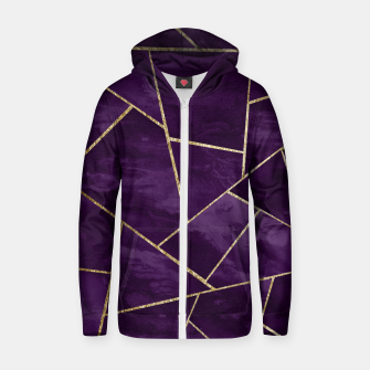 Miniatur Dark Purple Ink Gold Geometric Glam #1 #geo #decor #art Reißverschluss kapuzenpullover, Live Heroes