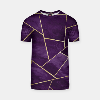 Miniatur Dark Purple Ink Gold Geometric Glam #1 #geo #decor #art T-Shirt, Live Heroes