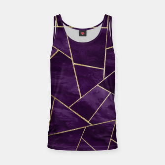 Miniatur Dark Purple Ink Gold Geometric Glam #1 #geo #decor #art Muskelshirt , Live Heroes