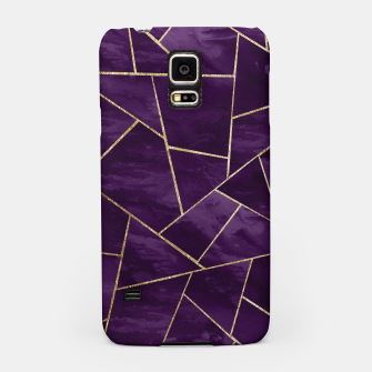 Miniatur Dark Purple Ink Gold Geometric Glam #1 #geo #decor #art Handyhülle für Samsung, Live Heroes