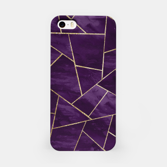 Miniatur Dark Purple Ink Gold Geometric Glam #1 #geo #decor #art iPhone-Hülle, Live Heroes