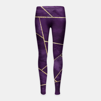 Miniatur Dark Purple Ink Gold Geometric Glam #1 #geo #decor #art Kinder-Leggins, Live Heroes
