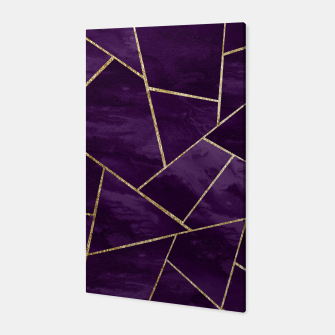 Miniatur Dark Purple Ink Gold Geometric Glam #1 #geo #decor #art Canvas, Live Heroes