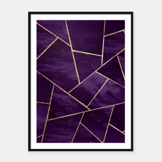 Miniatur Dark Purple Ink Gold Geometric Glam #1 #geo #decor #art Plakat mit rahmen, Live Heroes