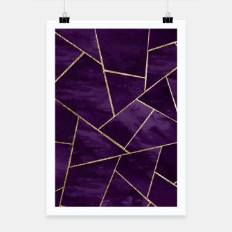 Miniatur Dark Purple Ink Gold Geometric Glam #1 #geo #decor #art Plakat, Live Heroes