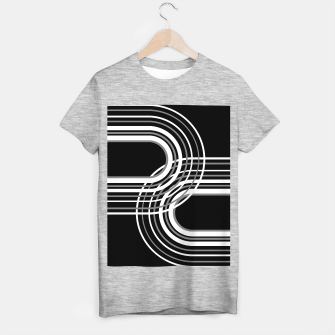 Miniatur Rainbow Arch Minimal Abstract #3 #decor #art  T-Shirt regulär, Live Heroes