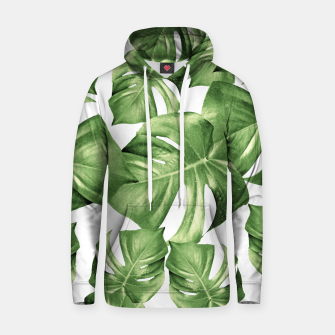 Miniatur Monstera Leaves Green Summer Vibes Pattern #1 #tropical #decor #art Kapuzenpullover, Live Heroes