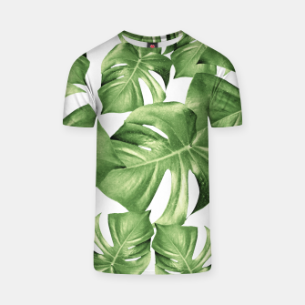 Miniatur Monstera Leaves Green Summer Vibes Pattern #1 #tropical #decor #art T-Shirt, Live Heroes
