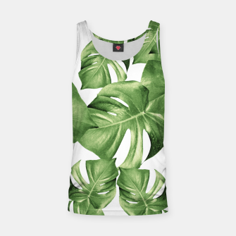 Miniatur Monstera Leaves Green Summer Vibes Pattern #1 #tropical #decor #art Muskelshirt , Live Heroes