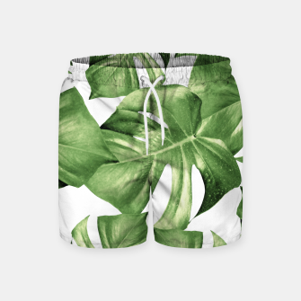 Miniatur Monstera Leaves Green Summer Vibes Pattern #1 #tropical #decor #art Badeshorts, Live Heroes
