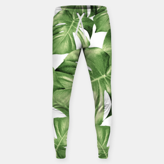 Miniatur Monstera Leaves Green Summer Vibes Pattern #1 #tropical #decor #art Hosen, Live Heroes